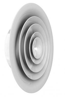 Anemostat circular RCD RCD-R RCDH RCD-RH - RCD,RCD-R / Difozor circular de plafon RCD, cu fata rectangulara RDC-R