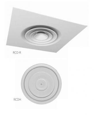 Anemostat circular RCD RCD-R RCDH RCD-RH - Anemostat circular RCD/RCD-R/RCDH/RCD-RH