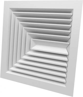 CD-S Difuzor de plafon patrat 1,2,3 directii