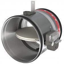 Clapeta antifoc circulara CR120+MFUS