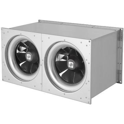 Ventilator de canal optimizat fonic, cu ventilator diagonal ETALIN, controlabil prin tensiune