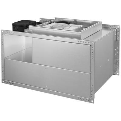 Ventilator de canal cu elice motorizata cu palete curbate inapoi, controlabil prin tensiune