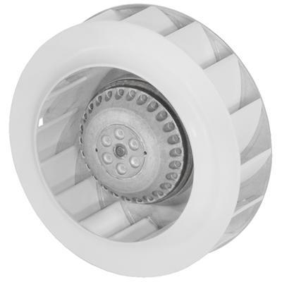 Ventilator centrifugal cu palete curbate inapoi, cu motor AC