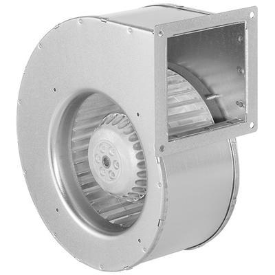 Ventilator cu palete curbate inainte in carcasa cu o singura admisie, cu motor AC