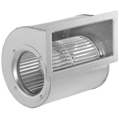 Ventilator cu palete curbate inainte in carcasa cu dubla admisie, cu motor EC