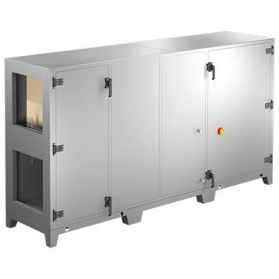 Unitate compacta de tratare aer cu cadru, decuplata termic, pentru instalare la interior sau exterior, cu 50 mm izolatie